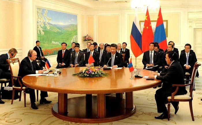 中俄蒙三國領導人會議 20160624
